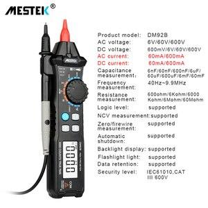Image 2 - MESTEK Digital Multimeter 6000 Counts Pocket Pen Style Auto Range/Smart Multimeter NCV Detection DC/AC Voltage multimeter