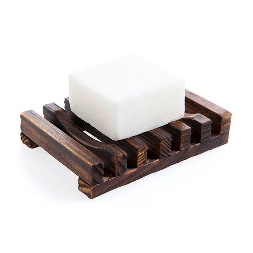 Suporte de sabão do banheiro madeira teca saboneteira cozinha kh banho acessórios do agregado familiar portátil merchandises para decoração casa cor escura