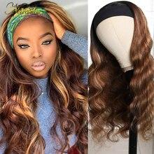 Nadula evidenzia i capelli con radici scure parrucca per capelli capelli umani miele colore biondo parrucche per capelli lisci per donne nere