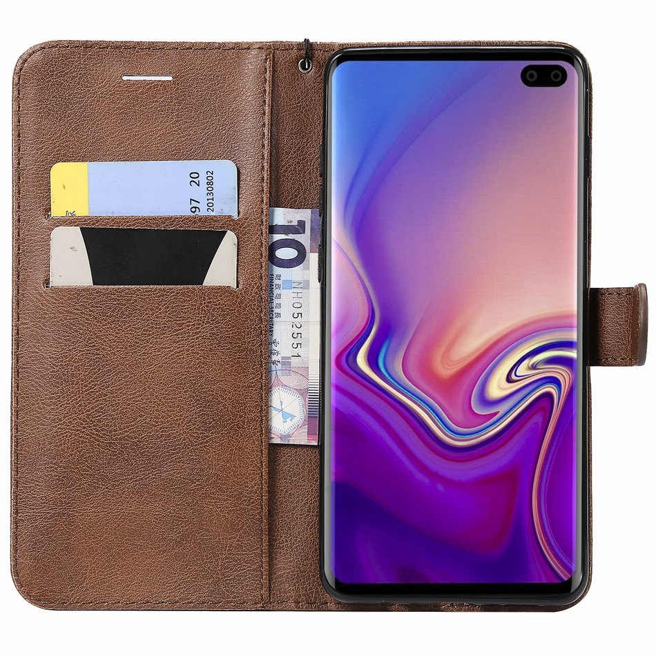 Solid Color Case For Samsung Galaxy S20 Fe S21 S10 S9 S8 Plus A12 A21S A42 A52 A72 A10 A20E A40 A50 A51 Card Slot Cover P06Z