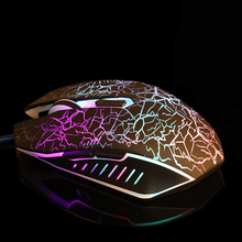 2400DPI LED Wired USB Gaming Mouse Breathing Backlight Gamer Mouse Ergonomic Game Mice for Computer PC Laptop rxe x6 usb wired 800 1600 2400dpi gaming mouse w led light black