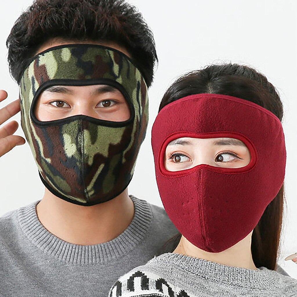 Men Women Ski Mask Warm Fleece Bike Half Face Mask Cover Kni…