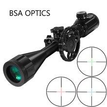 BSA البصريات STS 6 24X44 RGB مضيئة التكتيكية البصر البصريات بندقية نطاق الجانب المنظر ضبط قناص الصيد البصر