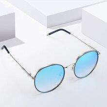 PARZIN New Sunglasses Fashion Round Vintage Brand Designer Sunglasses