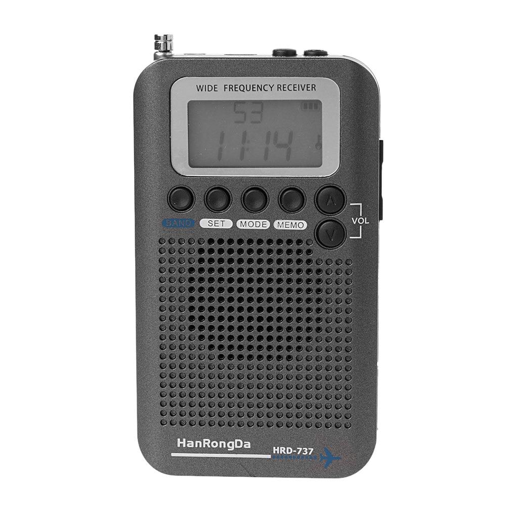 Neue HRD-737 Digital LCD Display Volle Band Radio Tragbare FM/AM/SW/CB/Air/VHF welt Band Stereo Empfänger Radio mit Wecker