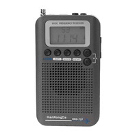New HRD 737 Digital LCD Display Full Band Radio Portable FM/AM/SW/CB/Air/VHF World Band Stereo Receiver Radio with Alarm Clock