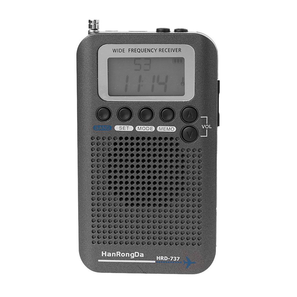 Nouveau HRD-737 numérique LCD affichage pleine bande Radio Portable FM/AM/SW/CB/Air/VHF bande mondiale récepteur stéréo Radio avec réveil