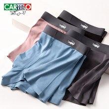 CARTELO Men's Antibacterial Underwear Men Soild Boxers Underpants Male Regenerated Cellulose Fiber Panties Summer Shorts