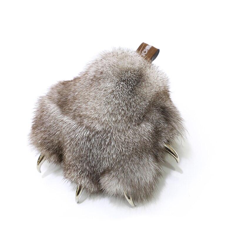 Patte dours petite patte design fourrure de renard pendentif fourrure patte pendentif mignon sac pendentif voiture porte-clés