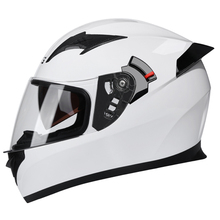 White Motorcycle Helmet Full Face Moto Helmet Double Visor C