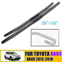 Balais d'essuie-glace hybride avant d'essuie-glace de voiture pour Toyota RAV4 XA40 2013-2018 pare-brise fenêtre avant 26