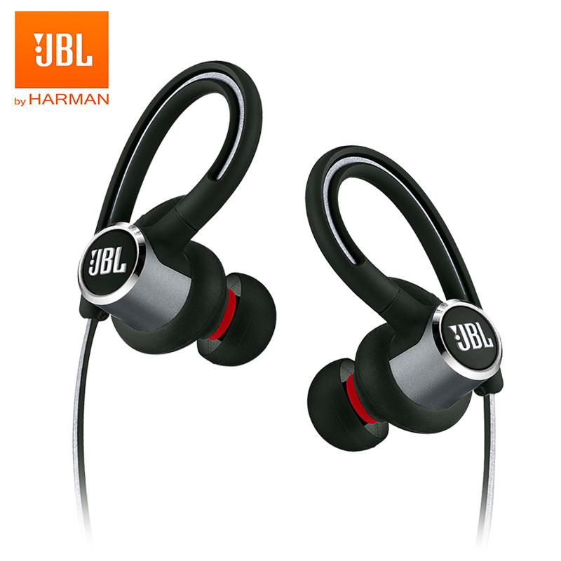 JBL Reflect Contour 2 Wireless Bluetooth Sport Headphones 3-Button Remote with Mic IPX5 Sweatproof Gym Headset Bass Earphones image