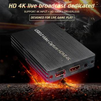4K HD HDMI Capture Card Video Card Capture 1080P HDMI USB3.0 Game Broadcast For Game Streaming Live Video Recording