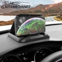 Tablero titular del teléfono del coche soporte de teléfono Universal de montaje para coche pinza de teléfono móvil soporte de montaje para Auto antideslizante GPS soporte