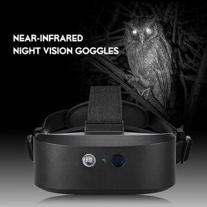 Image 2 - Head Mount Night Vision Scope Digital Night vision Binocular 60M In Dark Near infrared Illuminator for Night Hunting