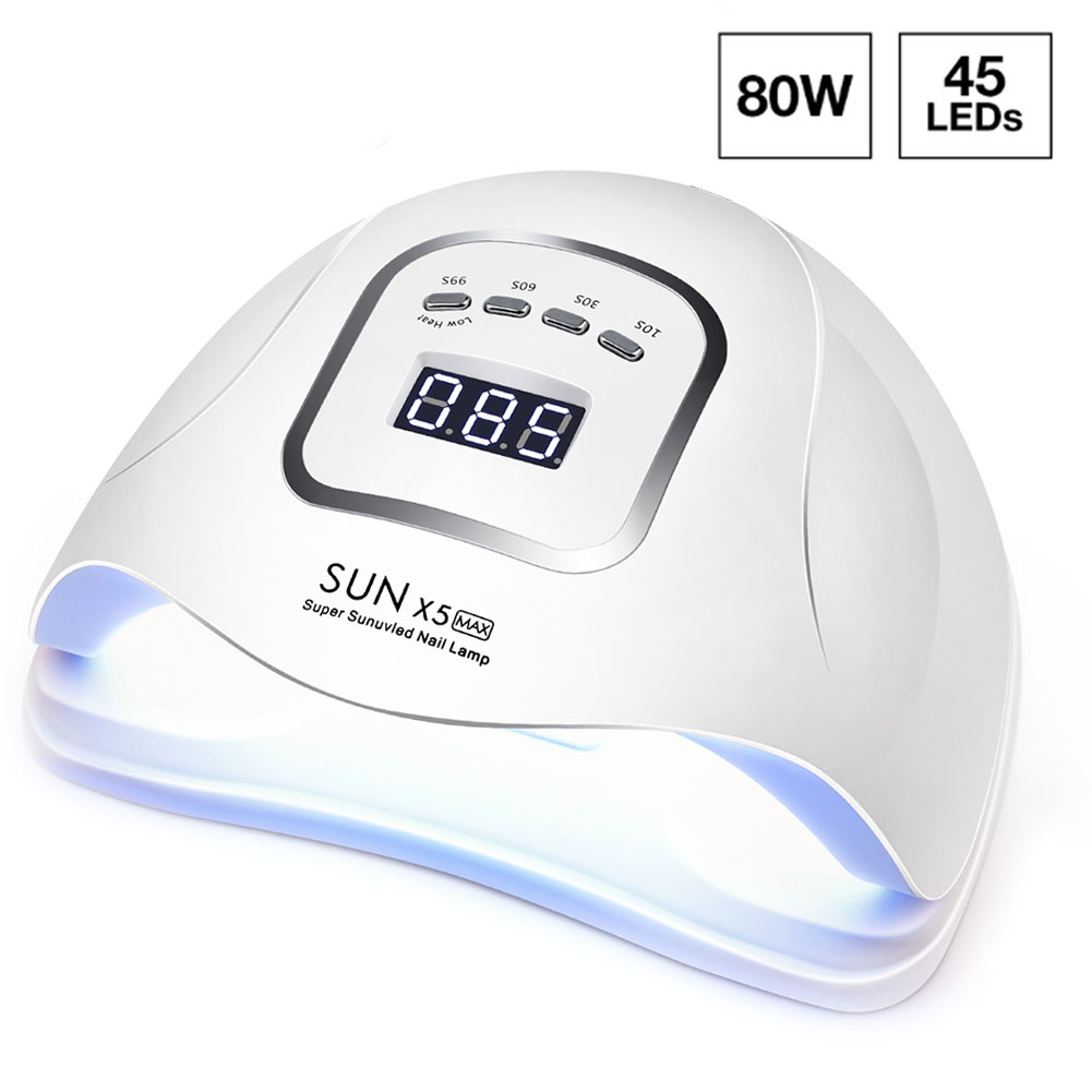 UV LED Nail Lamp For Nail Dryer 80W/54W/45W UV Lamp For Manicure Gel Nail Lamp Drying Nail Gel Varnish LCD Display