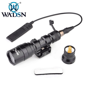 WADSN Tactical Flashlight M300AA MINI SCOUT LIGHT Airsoft Scout Light Dual Remote Switch Portable LED Torch WEX399 Weapon Lights