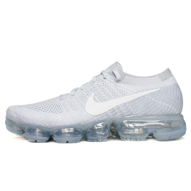 Authentic Original Nike Air VaporMax Flyknit Men's Running Shoes Fashion Outdoor Sports Trend 2019 New Breathable 849558-006