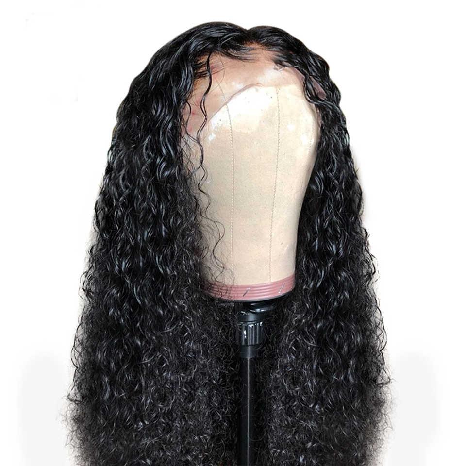 Распродажа #1 Цвет кудрявые волосы на фронте шнурка человеческие парики 10-24 дюймов отбеленные узлы перуанские волосы Remy парик с волосами младенца