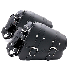 Universal Motorcycle Side Storage Tool Pouch Saddle Luggage Bags Saddlebags for Harley Sportster Iron 883 - XL883N Left/Right