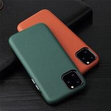 2020 nouveau cuir véritable affaires couverture arrière véritable veau naturel peau de vache étui de téléphone pour iPhone 12 11 Pro Max 12mini MYL 22W
