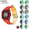 Żywica Sport Watch Band Case Bezel pasek do Casio g-shock DW-5600 DW5610 GW-M5610 GWB5600HR DW5000 akcesoria do ramek z narzędziami