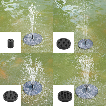 New Solar Power Fountain Pool Pump Garden Fountain Pump 190L / H Solar Fountain Water Pump for Bird Bath Garden Decoration