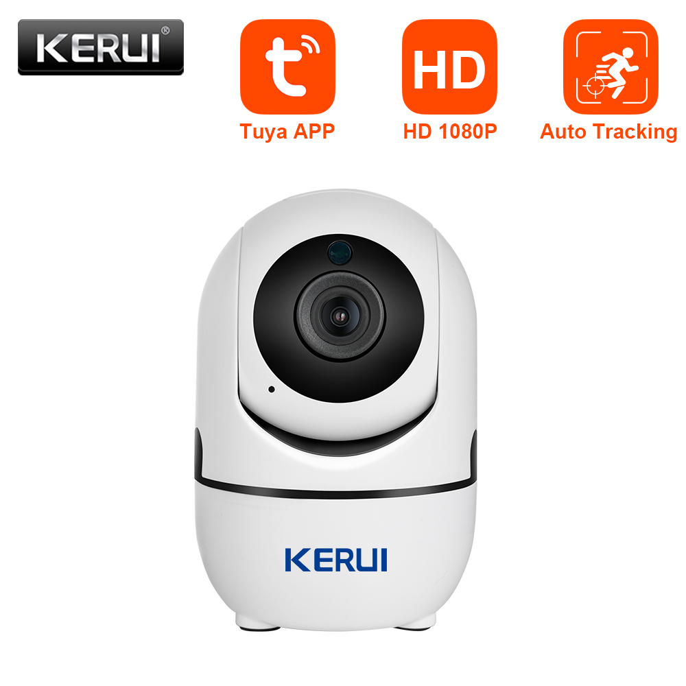 KERUI Mini Size WiFi IP Camera HD1080P Tuya App Indoor Camera Home Security WIFI Surveillance Night Vision Motion Alarm System