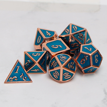 Metal Dnd Dice Sets Dungeons And Dragon D&D MTG RPG Polyhedral Role Playing Blue Dice Gift 7PCS D20 D12 D10 D8 D6 D4