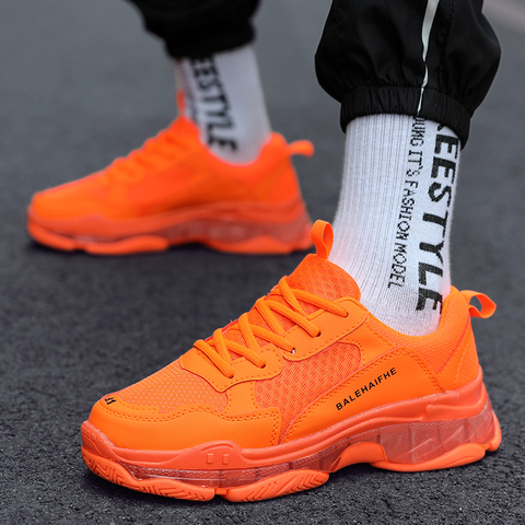 2019 Fashion Couple Shoes Platform Sneakers for Women/Men Chunky Casual Dad Shoes Women Thick Sole Ladies Jelly Shoes Islamabad