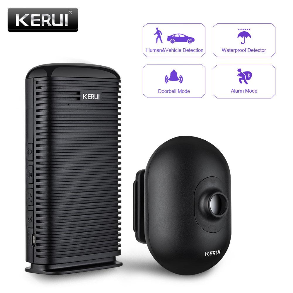 KERUI DW9 Outdoor Wireless Home Security Alarm Waterproof PIR Motion Infrared Detector Driveway Garage Vehicle Burglar Alarm