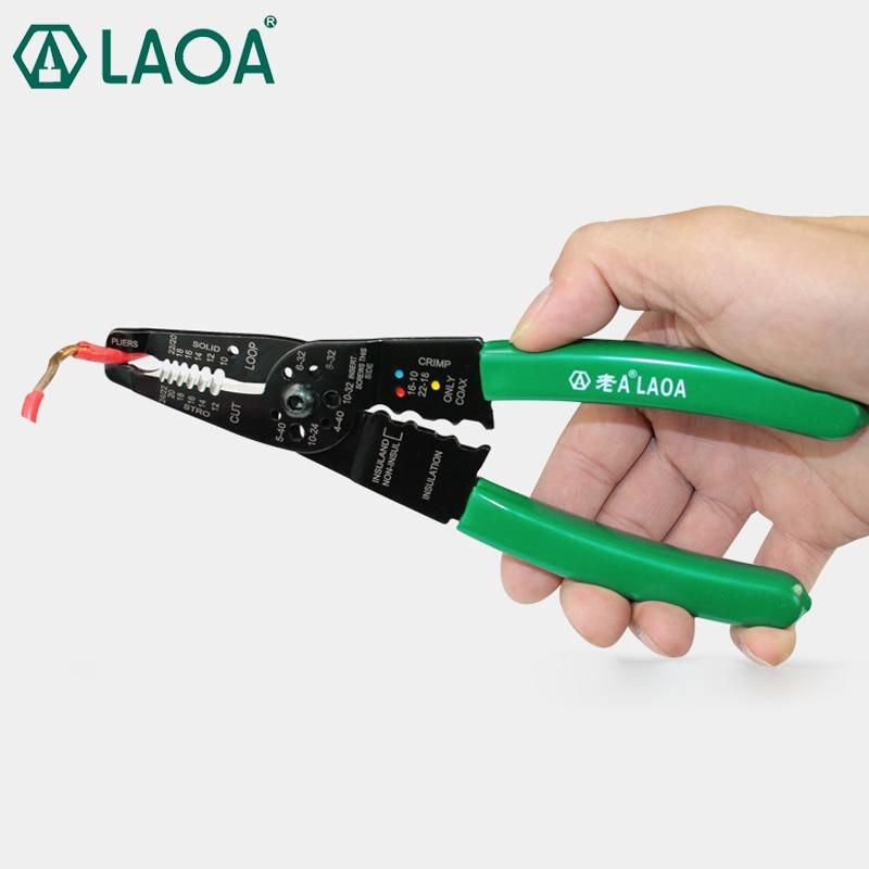 LAOA Alicates pelacables de 8 pulgadas Prácticas herramientas de crimpado multifunción Alicates eléctricos Herramienta