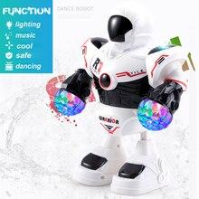 Детский робот игрушка интерактивная мини танцевальная музыка весело RC роботы игрушки для детей Развивающие мальчиков девочек подарки Jouets