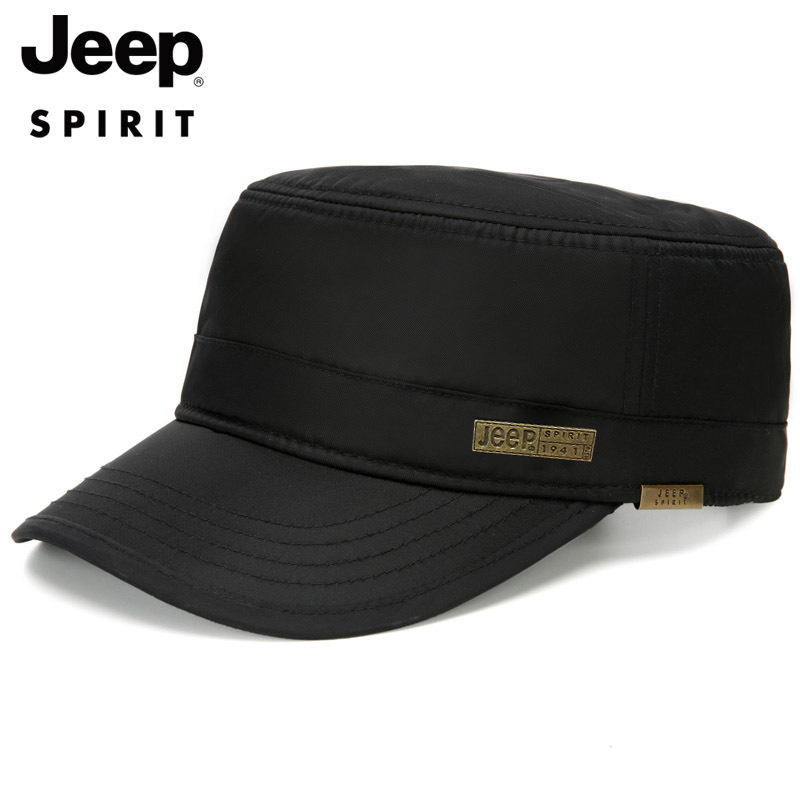 JEEPSPIRIT Winter Hat Men Thick Warm Fleece Antifouling Windproof Cap Men Black Adjustable Waterproof Mens Hat Casual Male Cap