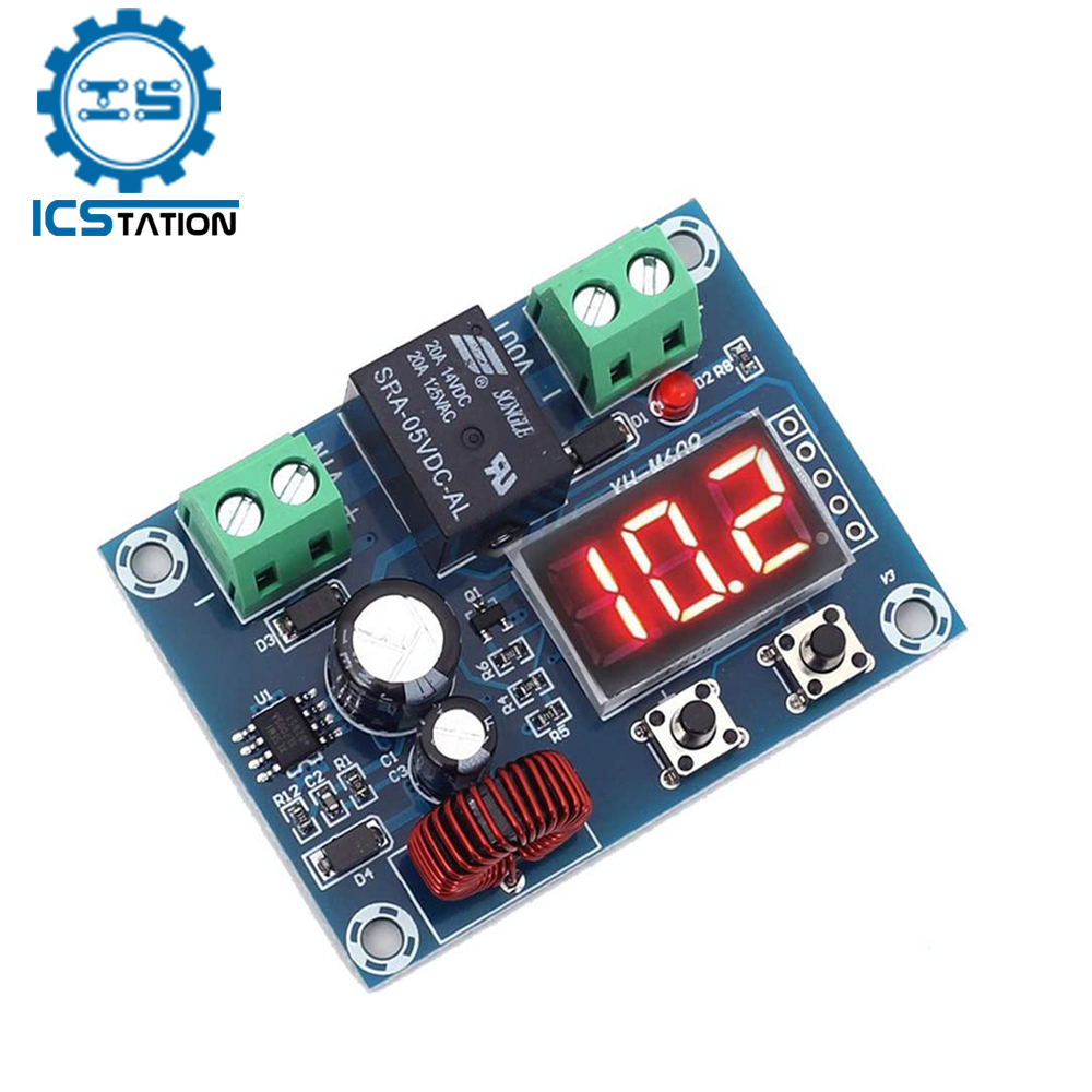 Digital Low Voltage Protect Disconnect Switch Cut Off 12V Over-Discharge Protection Module for 12-36V Lead Acid Lithium Battery