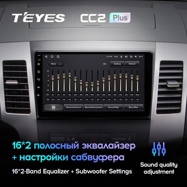 TEYES CC2L и CC2 Plus Штатная магнитола For Мицубиси Аутлендер 2 For Ситроен Си-Кроссер For Пежо 4007 For Mitsubishi Outlander 2 CW0W For Citroen C-Crosser For Peugeot 4007 2DIN 2 DIN мультимедиа автомобиля устройство 4