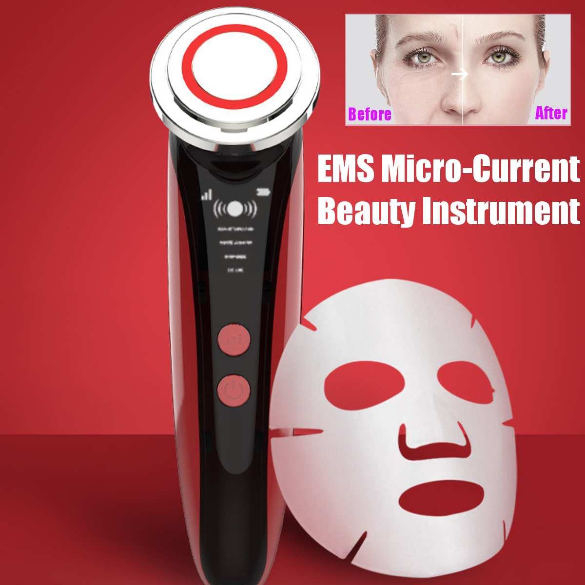 Face Lifting 5 in 1 EMS Infrared Ultrasonic Body Massager Device Ultrasound Slimming Fat Burner Cavitation Face Beauty Machine