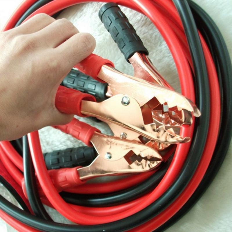 500AMP 자동 부스터 케이블 자동차 시작 점퍼 케이블 비상 전원 충전 배터리 부스터 코드 구리 와이어 클립 클램프