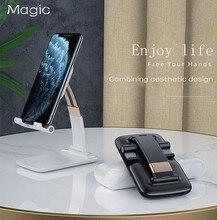 0 90 ° שולחן עבודה מחזיק מעמד נשלף חכם טלפון סטנד מתכוונן סטנד מתקפל התרחבות אוניברסלי עצלן טלפון נייד בעל
