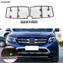 Car Insect Screening Mesh Front Grille Insert Net For Mercedes Benz GLC 2017 2018 2019