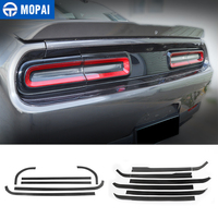 MOPAI Carbon Fiber Stickers Car Rear Tail Light Lamp Decoration Cover for Dodg Challenger 2015+ Exterior Accessories