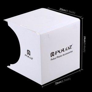 Image 3 - Cadiso מתקפל רך תיבת 20cm LED מיני צילום סטודיו מפוזר Lightbox תמונה עם שחור לבן רקע עבור מצלמה טלפון