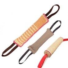1 шт. игрушка-Буксир для собак Подушка для укуса сильная игрушка для дрессировки собак с 2 веревочными ручками LBShipping