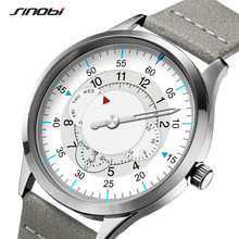Sinobi חדש אופנה שעון Mens שעונים עם נירוסטה למעלה מותג יוקרה ספורט עמיד למים קוורץ שעון גברים Relogio Masculino