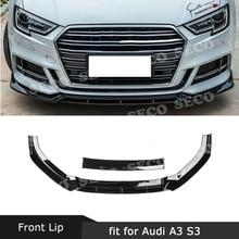 Для Audi A3 Sline S3 Not A3 standard ABS передний бампер Спойлеры для губ Лопата против столкновений спойлер