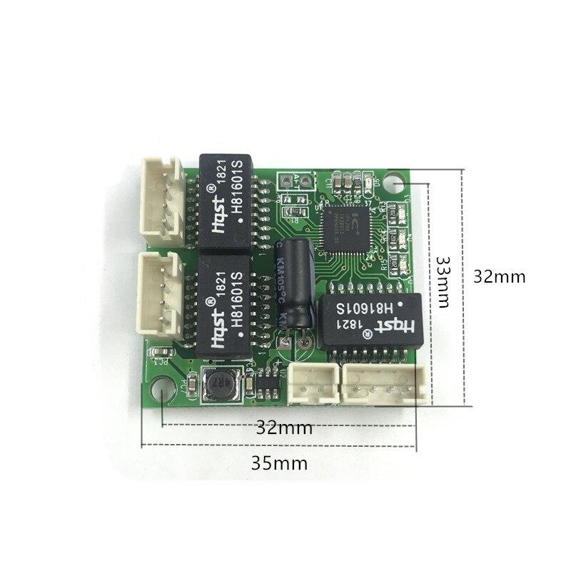 Mini 5V 12Vswitch module PBC OEM module mini size 3/4/5 Ports Network Switches Pcb Board mini ethernet switch module 10/100Mbps 3