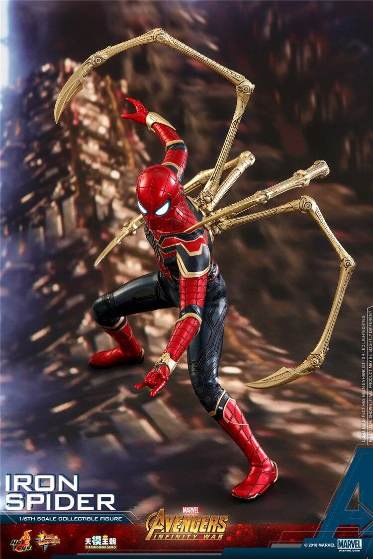 Brinquedos quentes MMS482 Collectible 1/6 Guerra Figura Coleção Vingadores 3 Infinito Guerra Modelo de Brinquedo Do Homem Aranha de Ferro para Presentes dos Fãs - 5