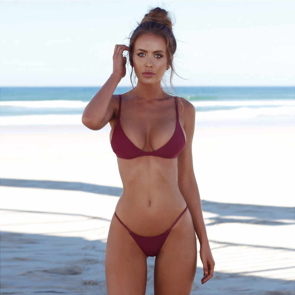 2020 סקסי ביקיני סט גבוה אישה קיצוני מיקרו ביקיני נשים בגד ים למעלה נפרד בגד ים ביקיני סט בגד ים GirlsNPY3