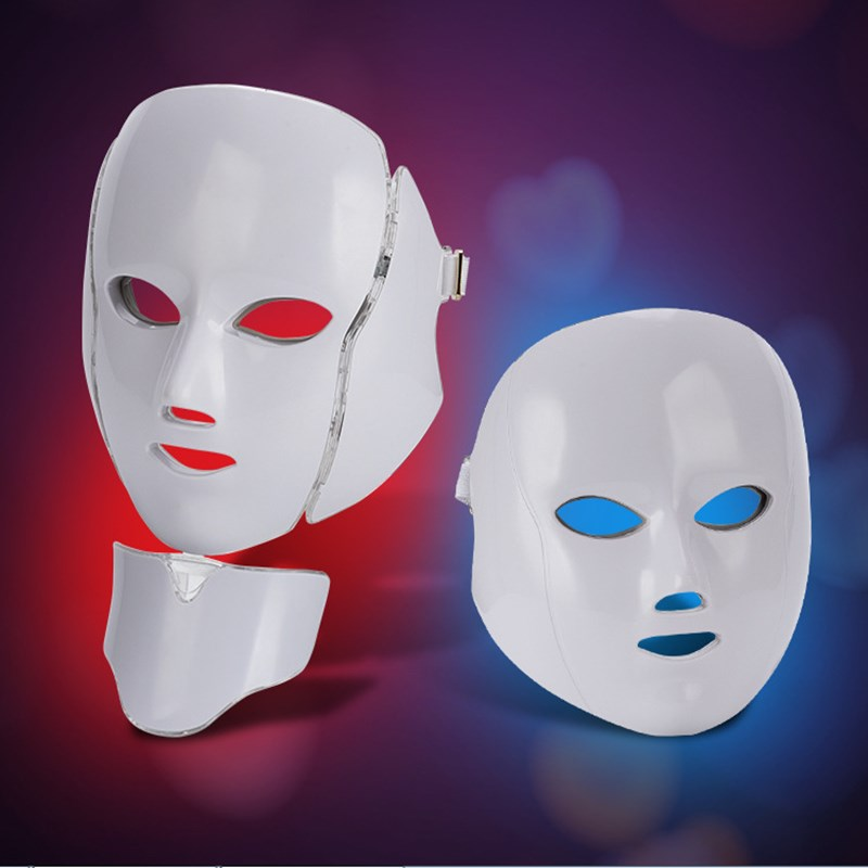 7 Colors LED Light Therapy Photon Facial Mask for Beauty Rejuvenation Wrinkle Acne Removal moisturizing Spa