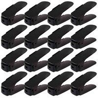 16Pcs Duplo Limpeza de Sapatos Rack De Armazenamento Sapato Organizador de Sapato Moderno Armário de Sapatos Organizadores Conveniente Prateleira Suporte de Rangement Sapateiras e organizadores de sapato     -